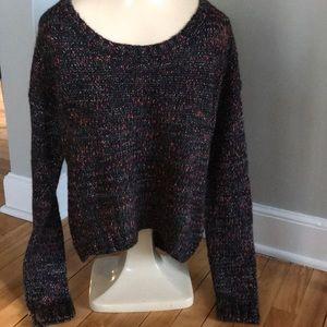 Garage soft black/multi-color speckled sweater, S